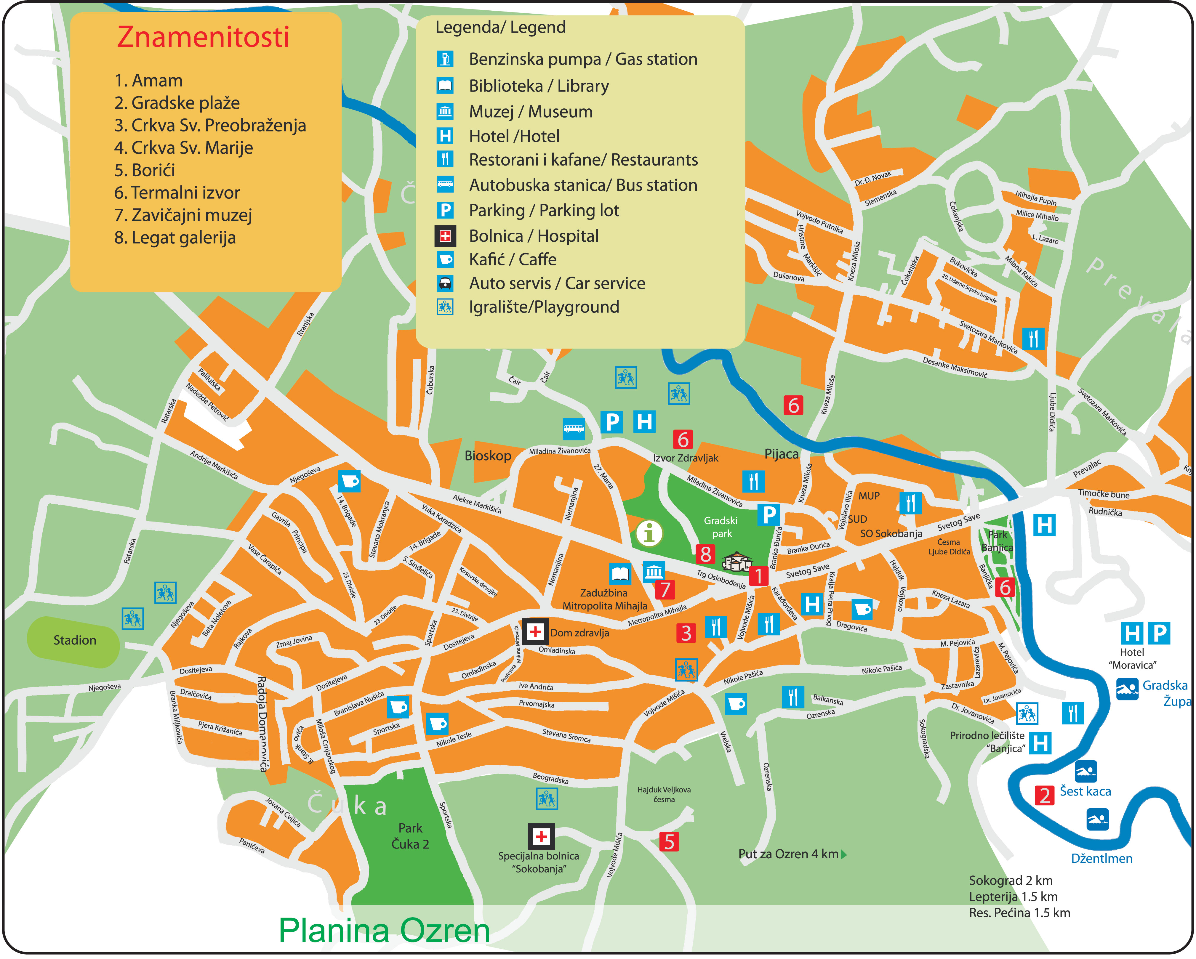 Mapa Sokobanje - Plan Soko banje